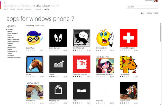 WP7 apps